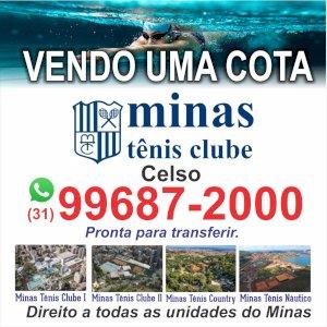 Vendo uma cota do Minas Tênis Clube. Promoção de um condomínio grátis. Aproveite!!