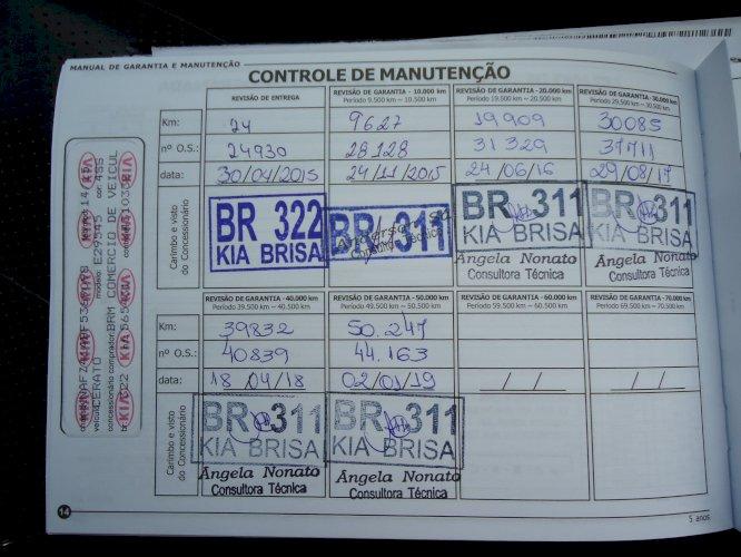 Kia Cerato SX3 Automatico 1.6 Flex Ano 2015 único dono e na garantia