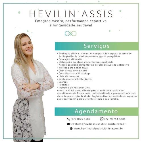 Hevilin Assis Nutricionista Clínica e Metabólica, Nutricioni