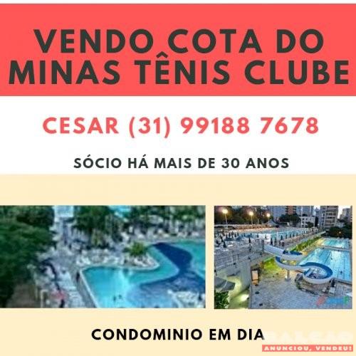 VENDO COTA MINAS TENIS CLUBE DIREITO TODAS UNIDADES EM DIA!