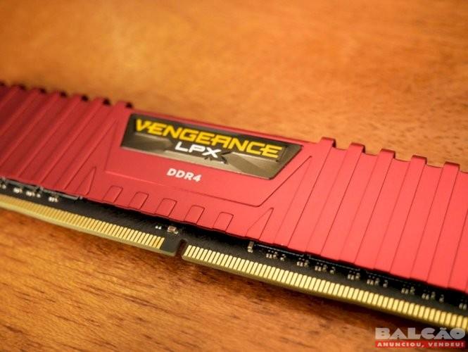 Memória Corsair Vegeance LPX 8Gb DDR4 2400mhz Red