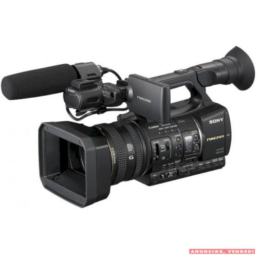 Câmera Sony HXR-NX5 usada com unidade de gravação HXR - FMU128GB, microfone, carregador de bateria