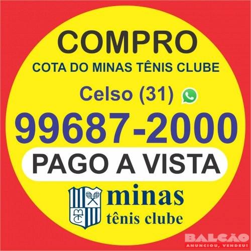 Compro uma cota do Minas Tênis Clube, Pago à vista e imediato